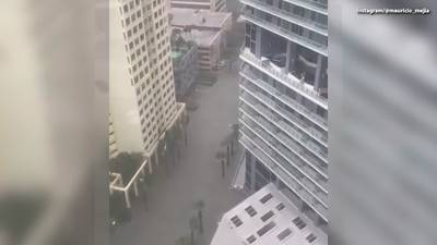 Irma brings strong winds and flooding to Brickell